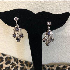 Iolite Sterling Chandelier Earrings